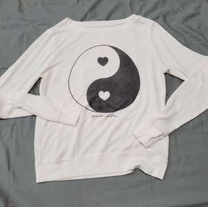 Spiritual Gangster Yin Yang Sweater Size XS